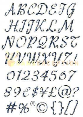 Alphabet Complet Majuscule De Style Rubans 0r0b4cc S004 Rubans